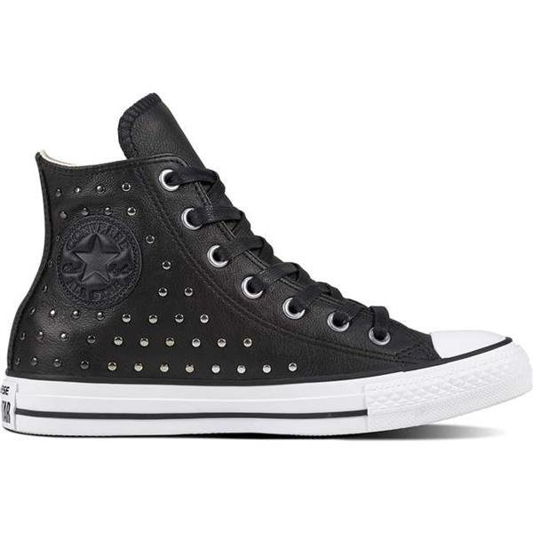 aabf3dcc742f Converse CHUCK TAYLOR ALL STAR LEATHER BLACK BLACK SILVER Black ...