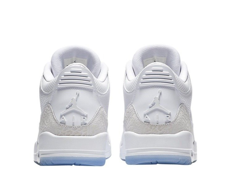 designer fashion 1f70f d9b28 Air Jordan 3 Retro Pure White Shoes - 136064-111