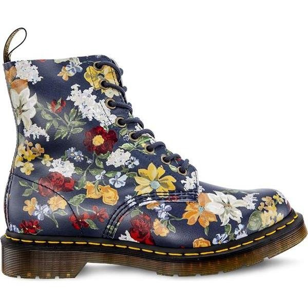 6bb3b30a9b645 Dr Martens DARCY FLORAL 1460 PASCAL DM'S NAVY DARCY FLORAL BACKHAND STRAW  GRAIN theme || motif | BRANDS \ Dr. Martens FOOTWEAR \ WOMEN'S \ Dr. Martens