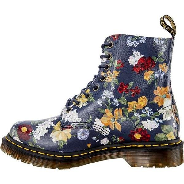 68efca4b9a6b4 Click to zoom · Dr Martens DARCY FLORAL 1460 PASCAL DM'S NAVY DARCY FLORAL  BACKHAND STRAW GRAIN Click to ...