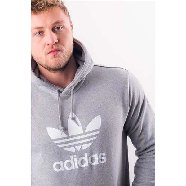 Men's Sweatshirt adidas TREFOIL HOODIE MEDIUM GREY HEATHER