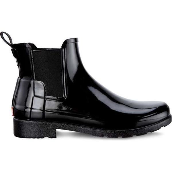 watch 3df59 c148a Rain Boots Hunter WOMEN S ORIGINAL REFINED CHELSEA GLOSS BLACK Black    BRANDS   Hunter FOOTWEAR   WOMEN S   Hunter