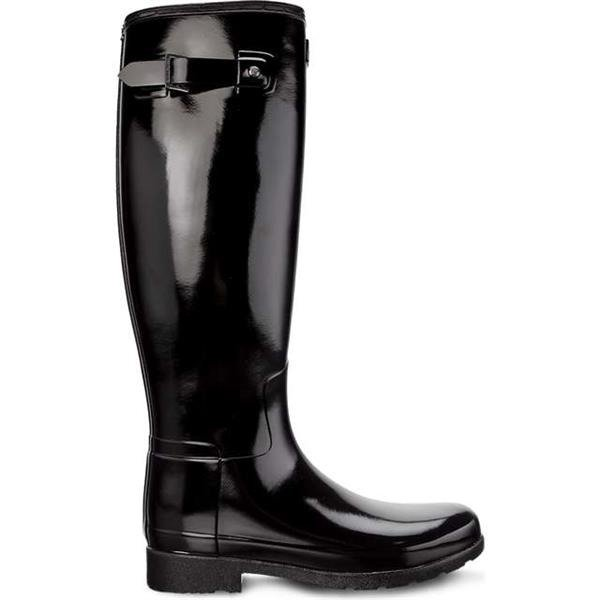 2faa12185d1 Rain Boots Hunter WOMEN'S ORIGINAL REFINED TALL BLACK
