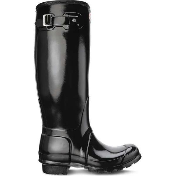 Rain Boots Hunter WOMEN S ORIGINAL TALL GLOSS BLACK Black  4550fb6a1f