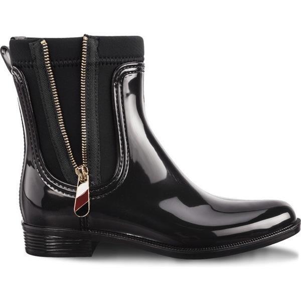617f809f8f5f Rain Boots Tommy Hilfiger MATERIAL MIX RAIN BOOTS 990 BLACK Black ...