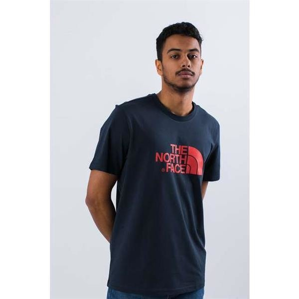 0b145e8dc025 The North Face EASY TEE BER URBAN NAVY FIERY RED Blue | CLOTHING \ MENS \  T-SHIRTS BRANDS \ The North Face