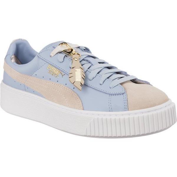 aa2ee022b8f7 Women s Shoes Sneakers Puma BASKET PLATFORM COACHELLA WNS FM SILVER PEONY  CASHMERE BLUE Multicolor