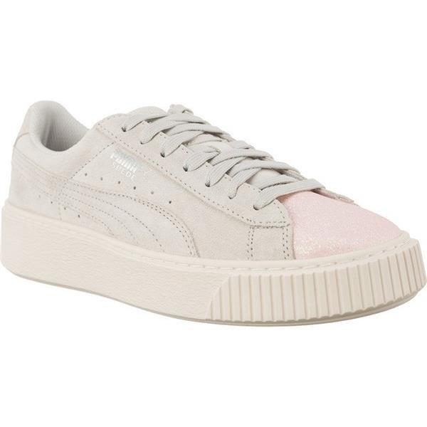 finest selection 82274 bb3e4 Women's Shoes Sneakers Puma SUEDE PLATFORM GLAM PEARL GLACIER GRAY