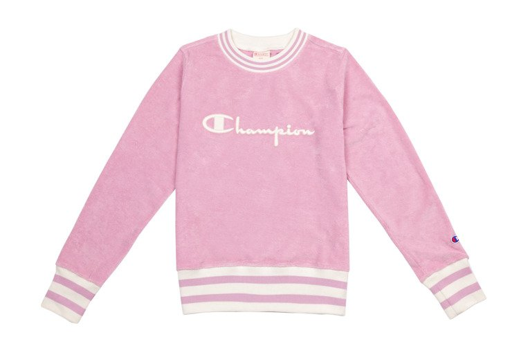 Women s Sweatshirt Champion Crewneck Sweatshirt Pink  974129f13