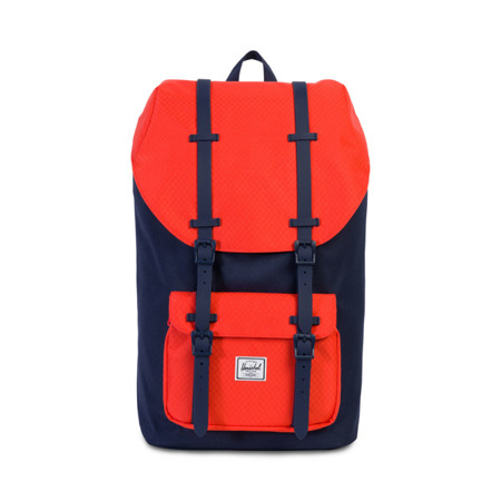 Backpack Herschel Little America Peacoat/Hot Coral/ Peacoat Rubber Backpack [10014-01468]