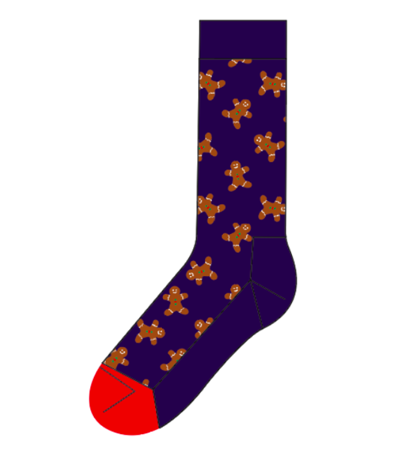 Happy Socks Holiday Singles Gingerbread GIN01-6000