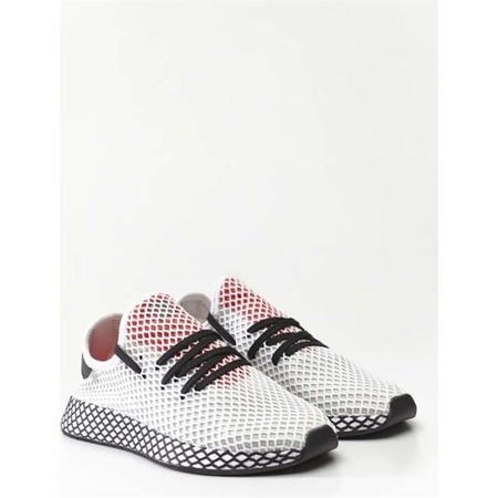 adidas DEERUPT RUNNER FOOTWEAR WHITE CORE BLACK SHOCK RED