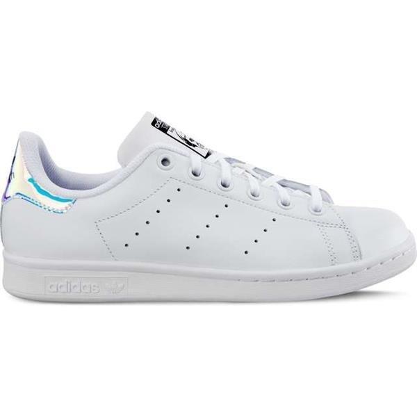 Damenschuhe Sneaker Adidas STAN SMITH J 272 FOOTWEAR WHITE METALLIC SILVER FOOTWEAR WHITE