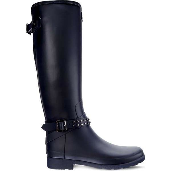 reputable site ad0fe b3cdc Gummistiefel Hunter WOMEN'S ORIGINAL STUDDED REFINED TALL NAVY