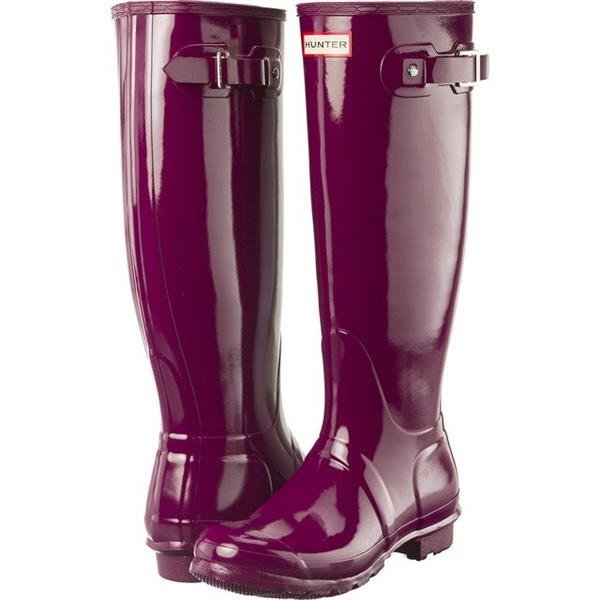 wholesale dealer d8ec6 15515 Gummistiefel Hunter WOMEN'S ORIGINAL TALL GLOSS VIOLET