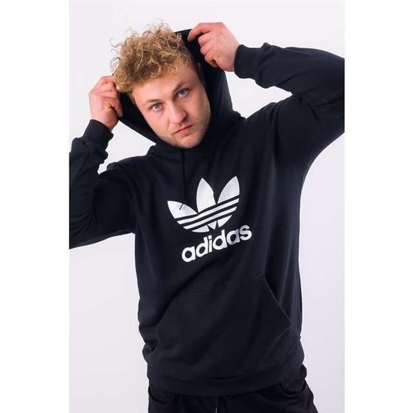 Herren Sweatshirt adidas TREFOIL HOODIE BLACK