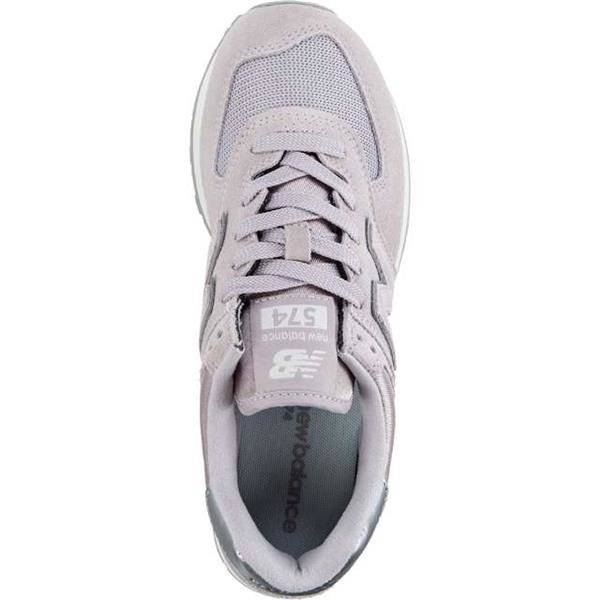 New Balance WL574LCS SATEEN TAB LIGHT CASHMERE WITH METALLIC SILVER