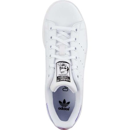 Damenschuhe Sneaker Adidas STAN SMITH J 272 FOOTWEAR WHITE METALLIC SILVER FOOTWEAR WHITE