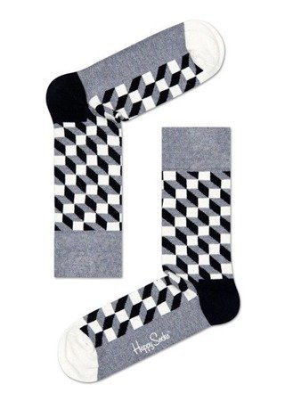 Giftbox 4-pak Happy Socks Seasonal Black & White  - XBLW09-9100
