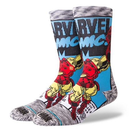 Stance Iron Man Comic Socks - M546D18IRO - GRY