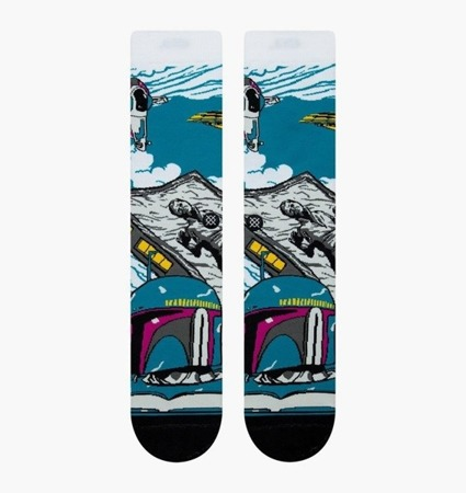 Stance Mens Star Wars Warped Bobba Crew Socken - M545D18WAB