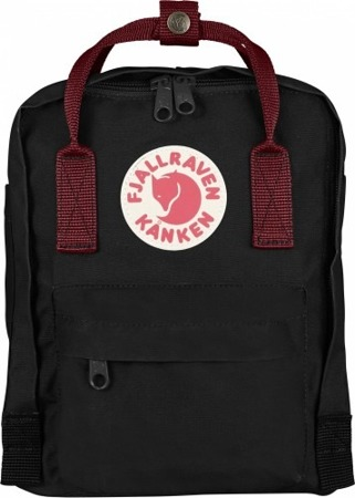 Kanken Mini Fjallraven Black-OX Red 550-326