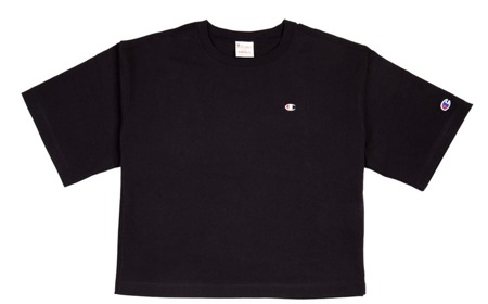 Koszulka Damska Champion Crewneck T-Shirt Crop Top Black
