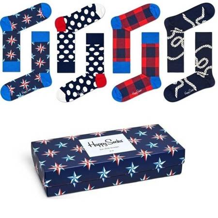Skarpetki Happy Socks Nautical Giftbox - XNAU09-6000